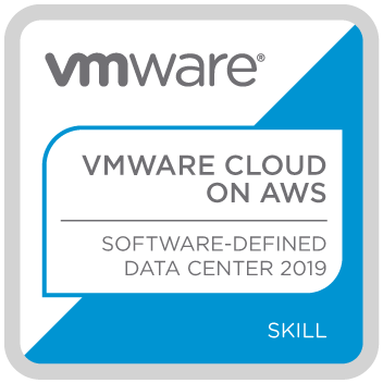 Badge VMWARE CLOUD ON AWS