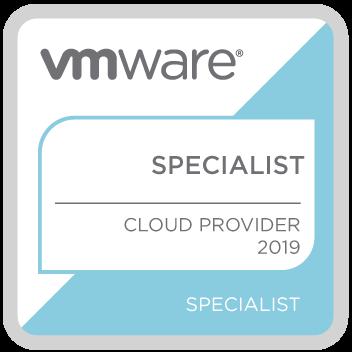 VMWARE SPECIALIST - CLOUD PROVIDER 2019