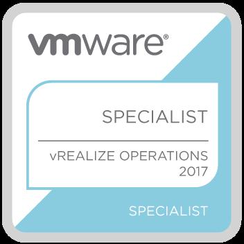 VMWARE Specialist vRealize Operation 2017